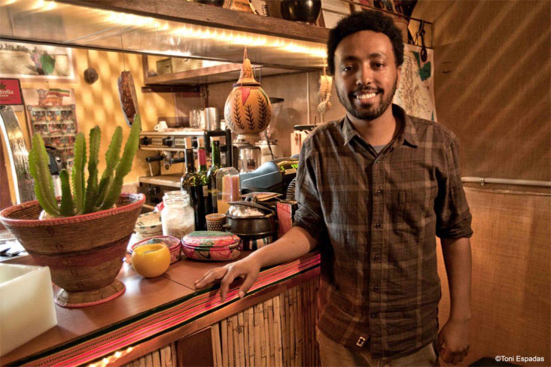 Los fogones etíopes del restaurante Addis Abeba de Barcelona